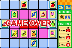 Chao Memory - Game over