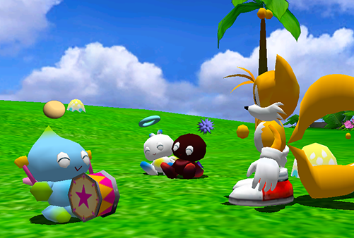 A Neutral, Hero and Dark Chao in the Chao Garden