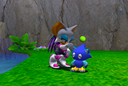 Petting a Chao
