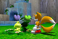 Two Chao performing the mating ritual