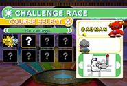 Challenge Race menu