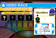 Hero Race menu