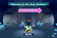 The Chao Race entrance menu