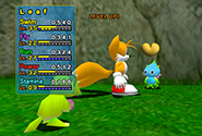 A Chao having it's level bar raised