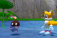 A Chao trying to swim