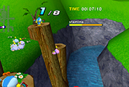 A flying Chao in a Chao Race